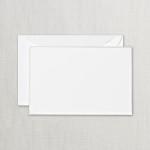 Crane Pearl White Correspondence Card Silver Border
