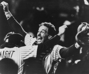 Gary Carter after winning the World Series in 1986. Photo: Newsday
