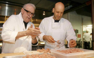 Chef Marc with father Sal making meatballs