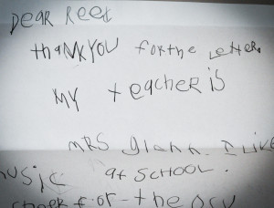 Response from 6-year-old Nicky from Day 22.