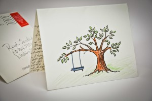 Myra personalized my card with a stamp and artwork.