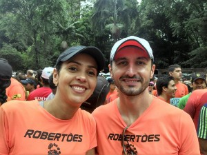 Adriana and Mauricio with their running team