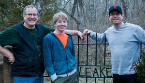Doug, Alex and me taking a break durin Alex's Eagle Scout Project in Goochland County, VA. Photo: Ryan Sandridge