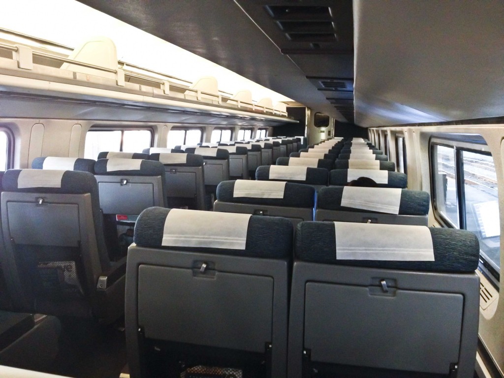 I was on one of the first trains to carry passengers between Philadelphia and New York since the crash on May 12th. As you can see - it was a pretty sparse train, only two other passengers in my car.