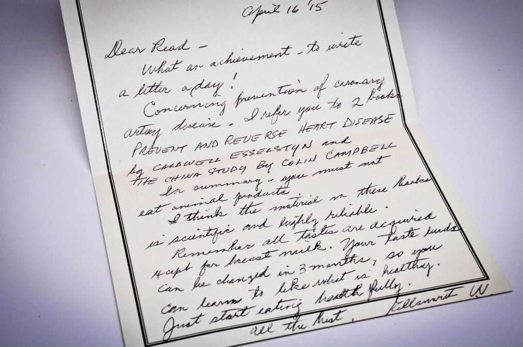 Dr Wareham letter