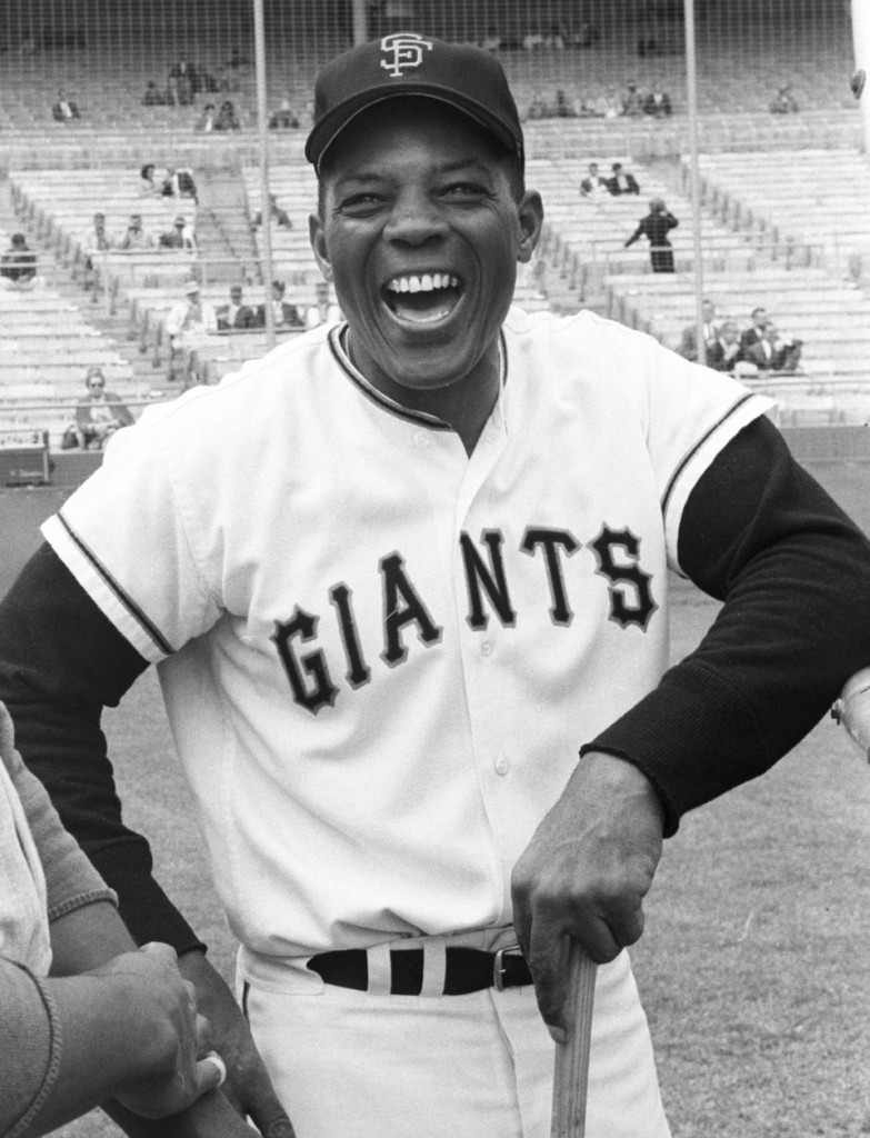 Portrait of San Francisco Giants center fielder Willie Mays before game versus the Los Angeles Dodgers at Candlestick Park.  San Francisco, California 7/5/1962  Photo: rsvits.com
