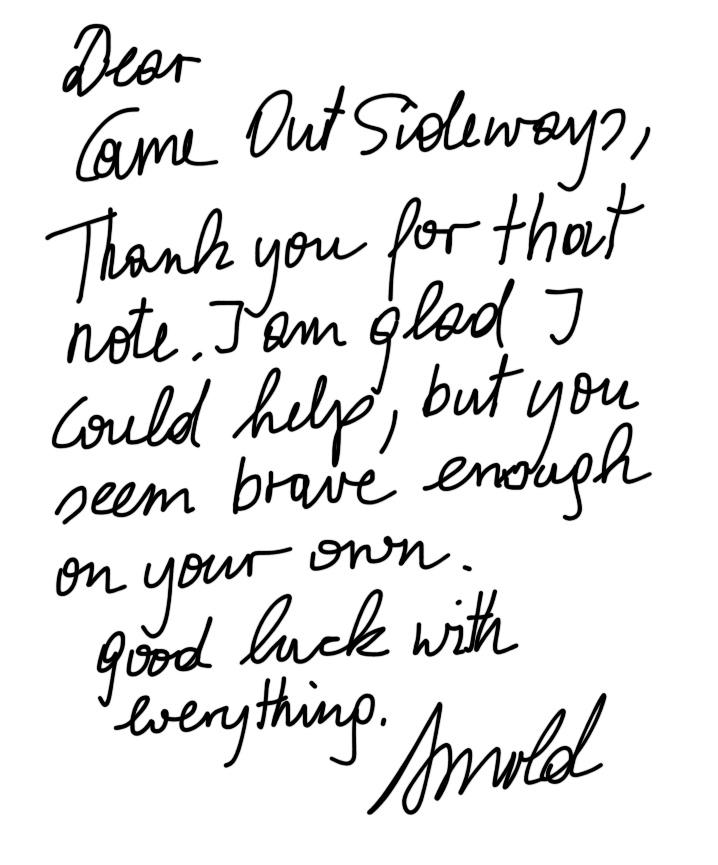 Arnie letter