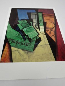 I chose a post card of a painting by Juan Gris. No reason really...just an old post card I found in my shoe box of letters.