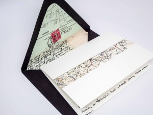 Some more homemade stationery and envelopes made from supplies from Paper Source.
