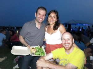 Me, Becky and Steve. By the way, that's a vegan meal I bought at a food truck and proudly displayed. Steve and Becky inspired me to give up meat for the past four months.